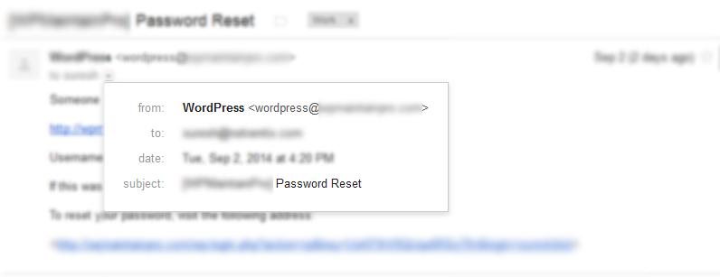 forgot-password-email-wordpress