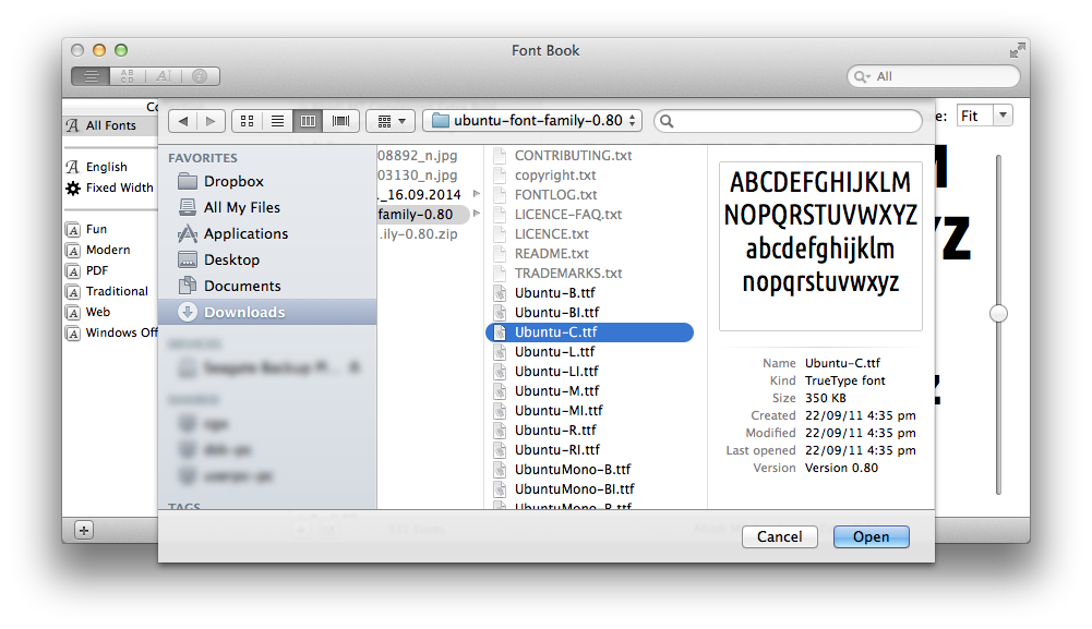 how to find the font files on a mac