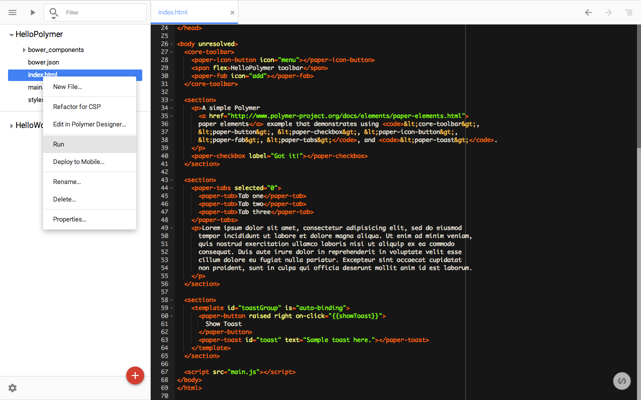 Polymer-code-view