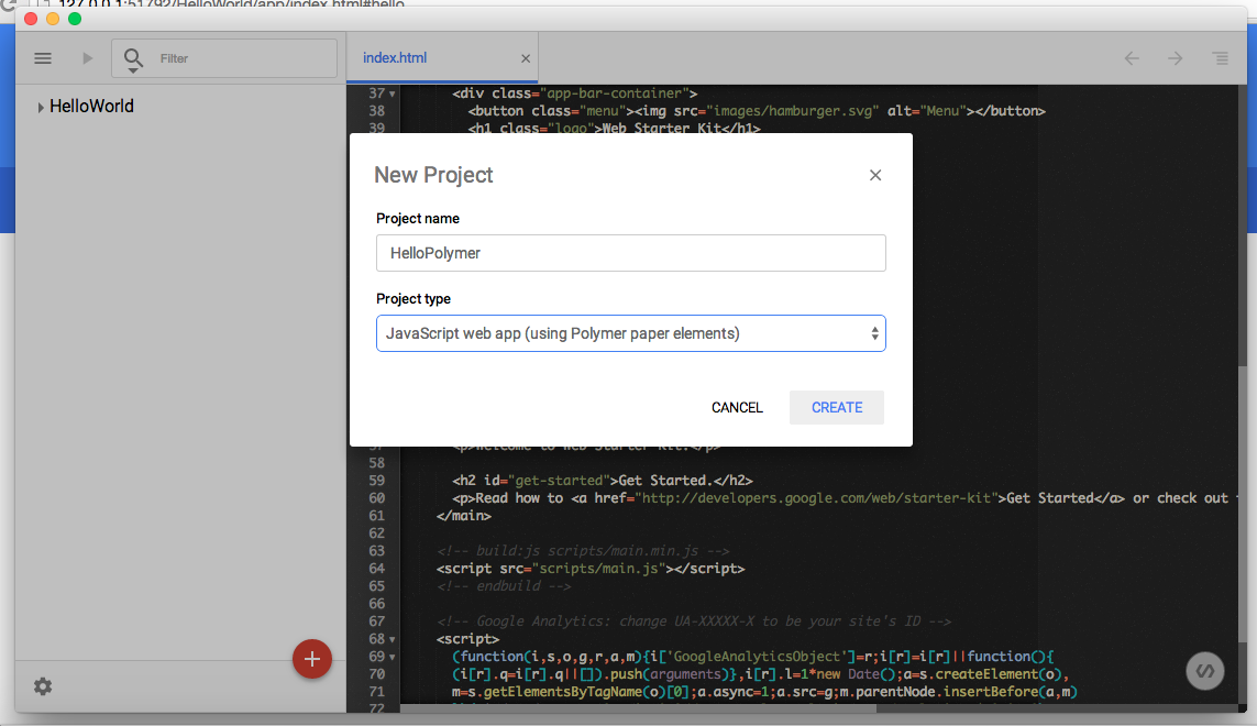 polymer-project-chrome-dev-editor