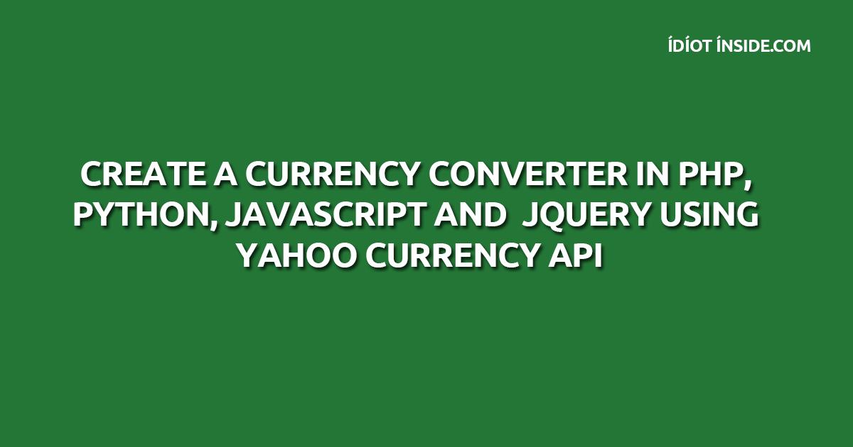 Yahoo forex converter