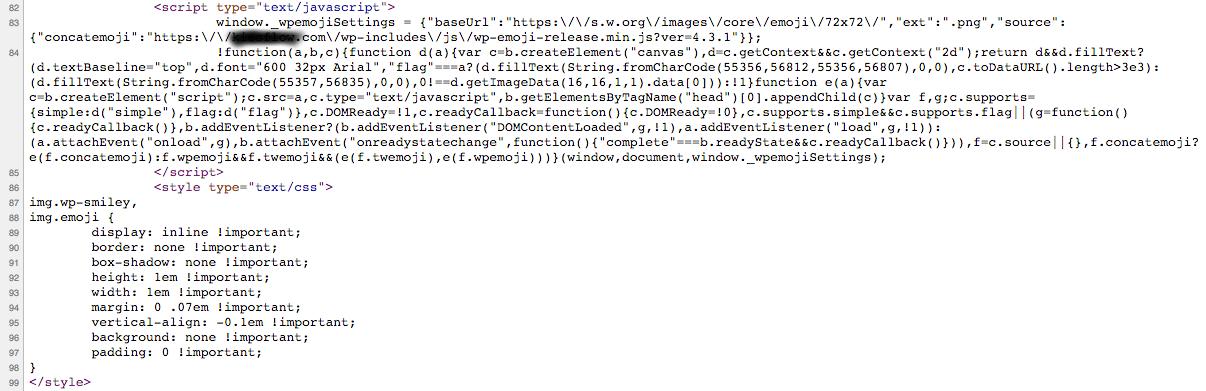 wp emoji script in header