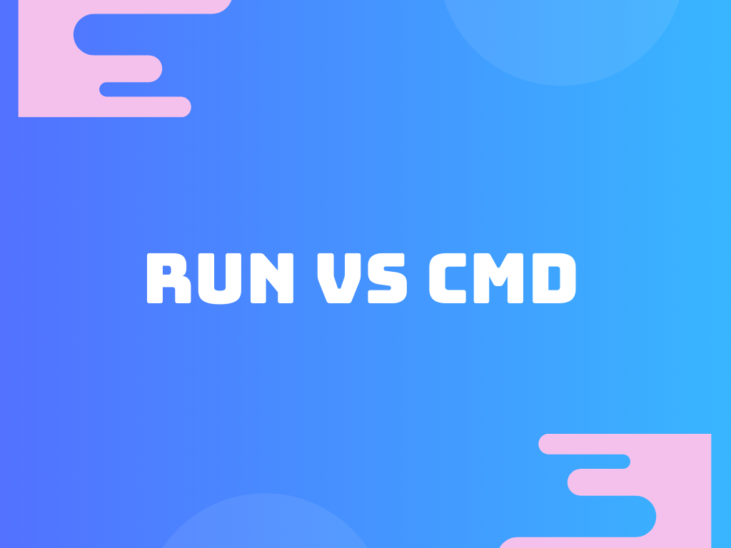 Difference between run and cmd in Dockerfile